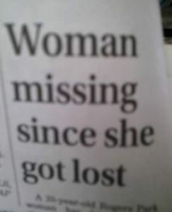 Well, isn't that obvious? Don't lost people end up missing? What about a specific time frame?
