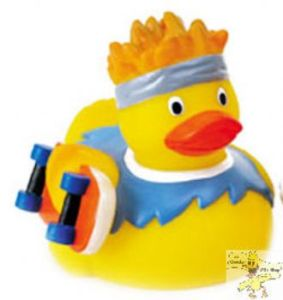 However, he must be totally quackers to ride his skateboard without wearing a helmet. Or anything to cover his joints.