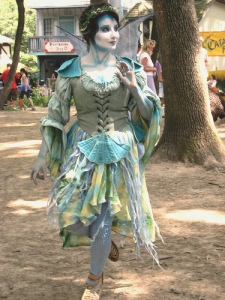 That's a blue fairy. Yes, you may see that at a Renaissance Festival. You're not imagining that.
