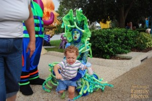 Then again, I can't really blame the kid. That woman really looks like a sea monster coming after him.