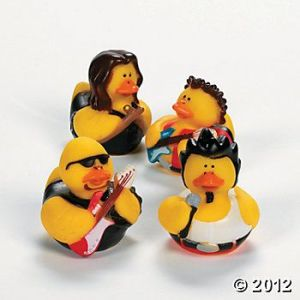 Wish they had rubber duckies of specific rock groups instead of this generic set. But you have to go what you can get sometimes.