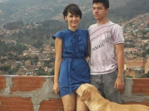 Yeah, I don't think the dog should be sniffing up that woman's skirt. Really ruins the moment.