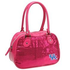 Yes, I know that there are plenty of women who are fans of college sports. Some even played them. But this pink sequin UK purse is utterly ridiculous.