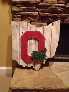 It depicts the Ohio State logo with the state of Ohio. What Ohio State fan wouldn't want that?