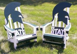They even come in a set with a Spartan head rest. Great for outdoor home tailgate parties.