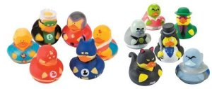 Guess most of the villain ducks are from Batman. As for the superhero ones, I can't seem to identify two of them.