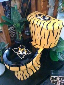 Now that's one of the most tacky toilets I've ever seen. I mean tiger stripes? That's insane.