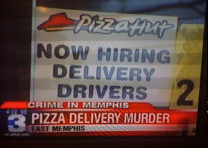 I don't know about you, Pizza Hut, but this isn't a great way to announce that you're hiring delivery drivers. Because I don't think many are willing to take that job at the moment.