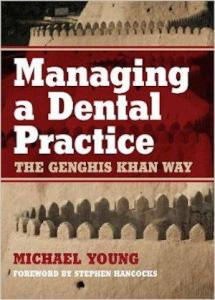 """From Mental-Floss: """"Genghis Khan was a busy guy, and he was never able to find time to open a dental practice in between building an empire. This book still suggests that dentists should be taking a page from his book."""""""