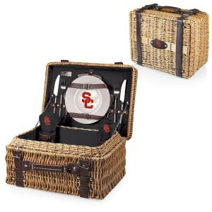 For nothing makes you more ready for college football than showing up at the tailgate party with a wicker picnic basket. Also, does this one include dishes and utensils for more than one person? Because it doesn't seem like it.