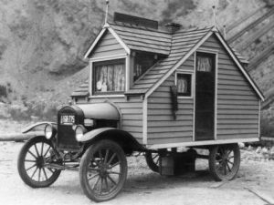 This was one of the first RV's out there. Made in 1926. I know it looks ridiculous. But I didn't design the thing.