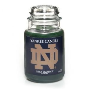 Yes, Yankee Candle really does sell these. I didn't make this up. They have ones for other teams, too. Yet, the Notre Dame one is among the few that make sense.