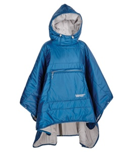 It's part blanket and part poncho. And unlike the snuggie, it was made for the great outdoors in all kinds of weather.