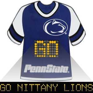 "It's a pin that has an on going message saying, ""Go Nittany Lions!"" Yet, it must be very expensive if you ask me."