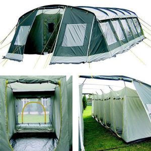 This is a 10 room tent as you can see inside. So it's perfect for scouting trips to a degree.