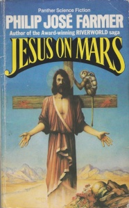 Also, Jesus doesn't seem to have any hard feelings about being crucified on the red planet. Which begs the question, how do Martians have access to wood? Because Mars doesn't have any trees.