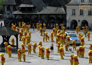 In fact, there was Pooh everywhere as far as the eye can see. And we mean literally everywhere.