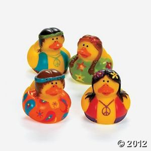 Seems like these duckies are into sex, drugs, and rock n'roll. Also, hope they don't drink the brown acid.