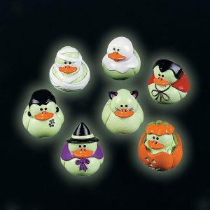 These ducks even glow in the dark to be extra spooky. Kind of eerie isn't it?