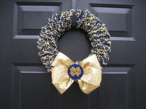 An LSU one would've been more appropriate. But I really like this Notre Dame one for some reason. Perhaps blue and gold are a great combination.