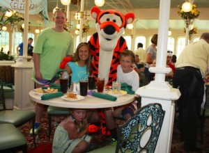 For the girl hiding under the table, Tiggers are the stuff of nightmares. Of great, big, bouncy nightmares.