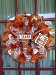 Yes, it's a University of Texas decomesh wreath. No, I don't like the colors. But at least a Longhorn fan might enjoy it.