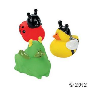 These include a ladybug, bee, and a grasshopper, apparently. Then again, I'm not really sure what the green duck is supposed to be.