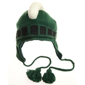 It's a knitted Spartan hat. May not protect you in battle against the Persians. But will keep you warm in Michigan weather.