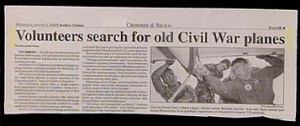 "I know this headline refers to a civil war in another country. However, whenever Americans hear ""Civil War"" they usually think about something that happened nearly 4 decades before airplanes were invented."