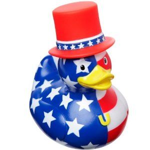 Doesn't hurt that this duck is in American flag colors to patriotic perfection. So cute.