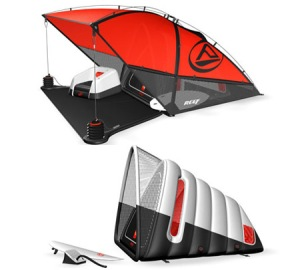"From Gadget Him: ""Pack a surf and camp into one with this delectably compact and innovative surf tent design. The inner sleeping pod is an inflatable design that makes the tent non-bulky and easy-carry. Give your impulsiveness a free reign with this surf tent!"""