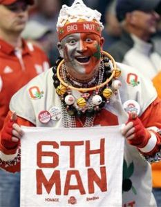 Of course, Ohio State is better known for football than basketball. But it's a great picture that I couldn't resist.
