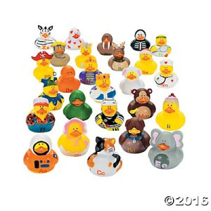 Each duck in this one has a letter corresponding with what it's supposed to be. Yet, I'm sure any little child will enjoy these at bath time.