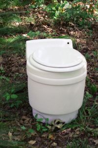 Sure it may not flush but at least it's not a port a potty. However, shitting in the woods in this doesn't give you much privacy.