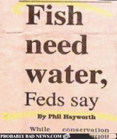 We've known that forever. Because fish are practically swimming in it. This is not news.