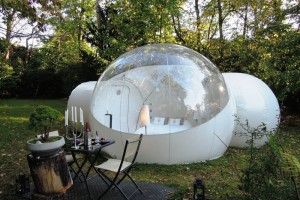 Yes, this is another bubble tent. But at least this one has a place where you can change your clothes.