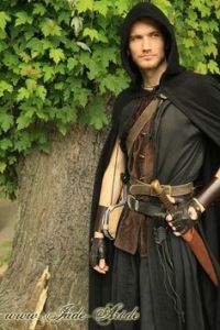 Doesn't hurt that this outfit helps him with the ladies and makes him look like a badass. He even has a sword, too.