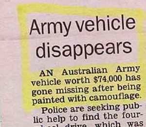 Even better is that it was from Australia and cost $74,000. That can't be good, especially considering the taxpayers who paid for it.