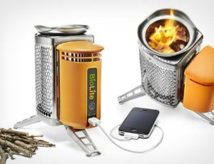 Of course, such stove does exist. It's called a campfire. So unless you plan on hiking in a snow capped mountain range, you probably won't need this. Then again, it might use smaller wood pieces. Also, what did I say about electronics?