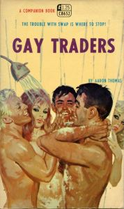 """Then again, """"Gay Traders"""" probably got passed the censors easier. But to me, it's more of a shower orgy than anything."""
