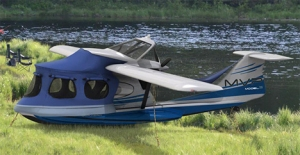 This is supposed to resemble a seaplane. But I doubt it could fly without any engine.