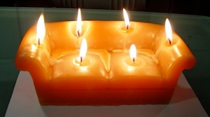 Now the age old WVU victory celebration is now a candle. And there's plenty of wax to go around.