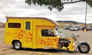 I'm sure this person is a hot rod fan. Not sure if the flames make it look cool though.