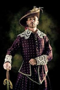 Only in the 16th and 17th century could a man get away with lace, puffy pants, puffy sleeves, and tights and look like a badass. Because being fancy was a mark of wealth and prestige.