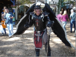 I guess even dressing up as a demonic figure isn't uncommon. After all, he does seem to make it look cool.