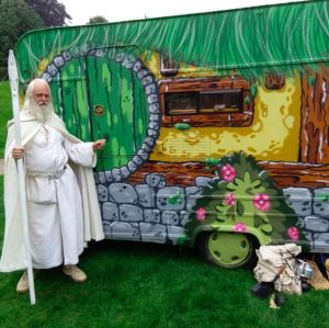 Yes, some one decorated a camper to look like Bag End from the Shire. I know it's perhaps one of the geekiest things one can ever do.