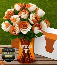 Yes, they make these. But while some school colors may work on floral displays, Texas University's isn't one of them.