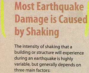 Obviously everyone knows that. Why do you think earthquakes are so destructive that California cities have to come with new construction methods.