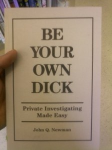 """Still, given how """"dick"""" has so many unfortunate meanings these days, this cover is unintentionally hilarious. Yeah, get your mind out of the gutter."""