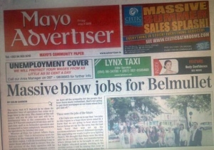 "When one hears, ""Massive Blow Jobs for Belmullet,"" it's not a family friendly picture. In fact, quite the contrary."